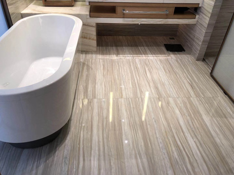 Lefkon White Wood Marble