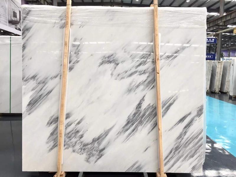 White Jade Ink Marble