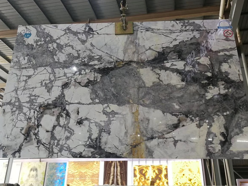 Winter River Snow Marble Countertops
