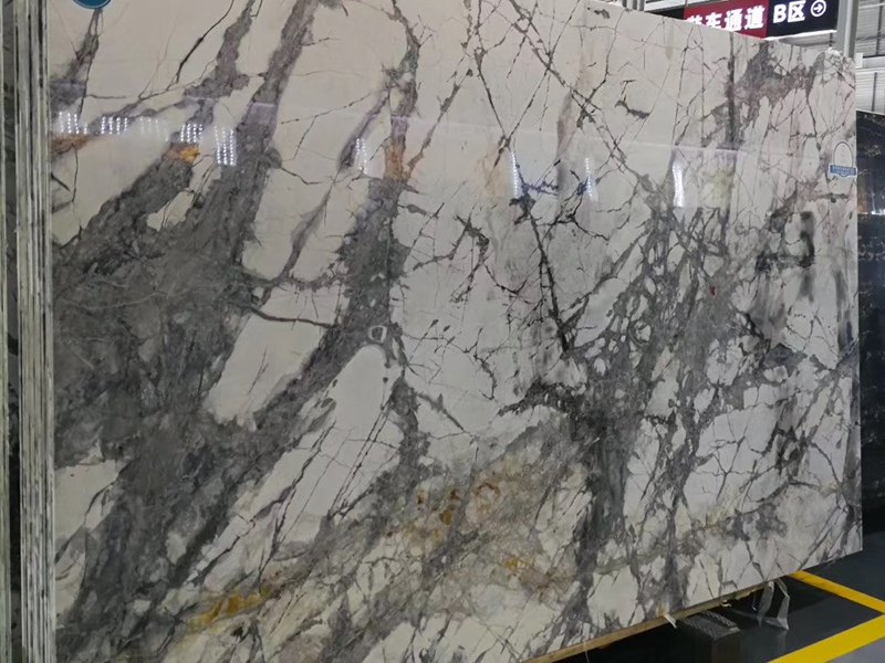Winter River Snow Marble Tiles