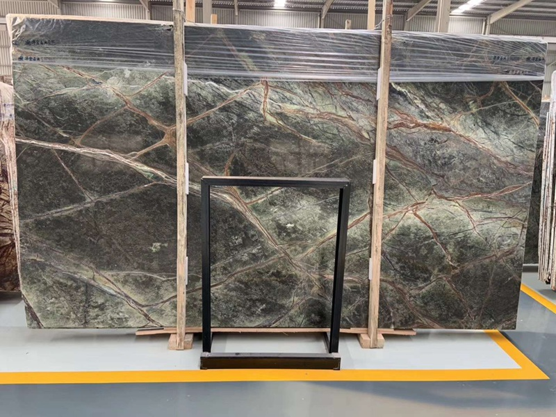 Rainforest Green Marble Slabs