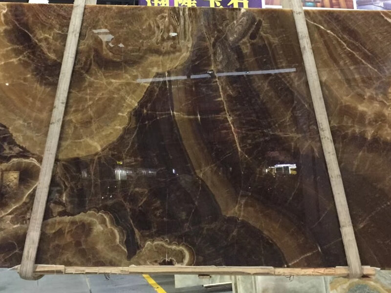 Backlit Coffee Brown Onyx Countertops
