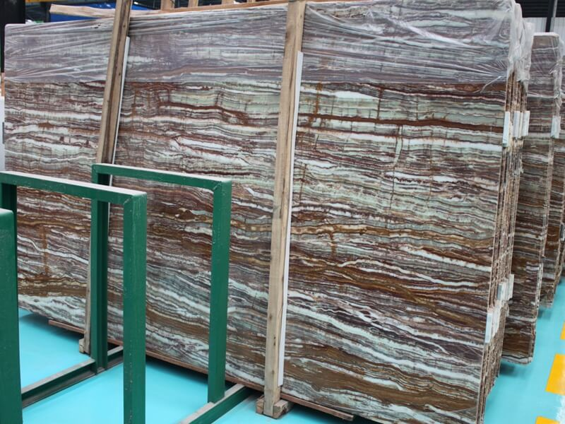 Green Bamboo Onyx Slabs