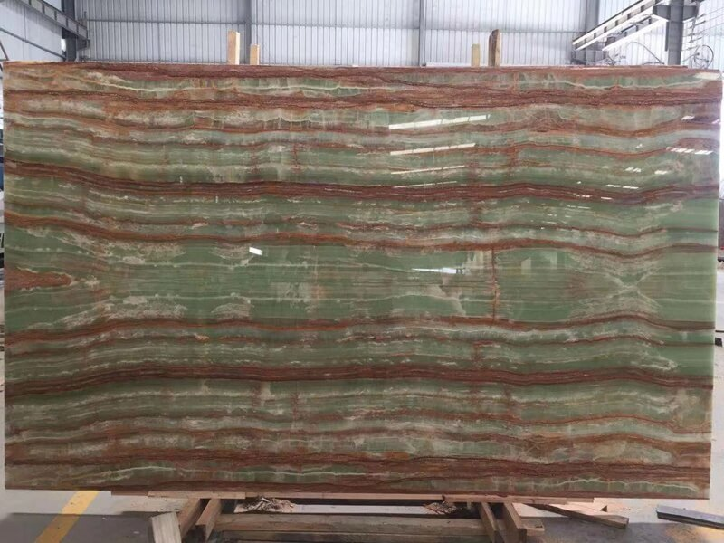 Green Bamboo Onyx Table Tops