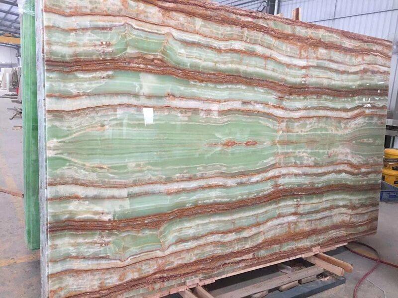 Green Bamboo Onyx Tiles