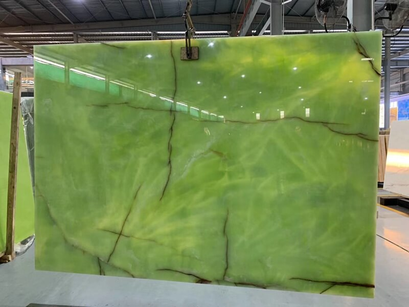 Jade Green Onyx Slabs