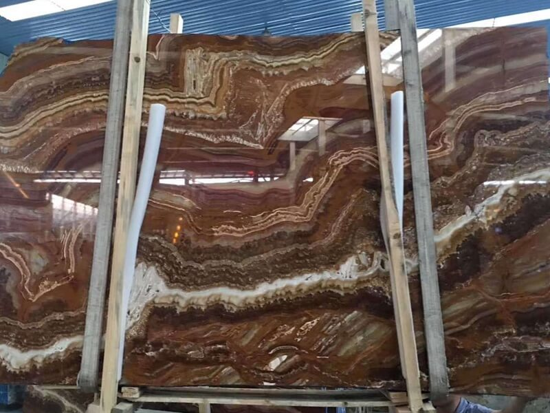 Multicolor Tiger Onyx Table Tops
