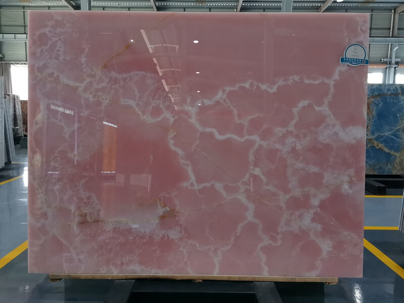 Rose Pink Onyx Table Tops