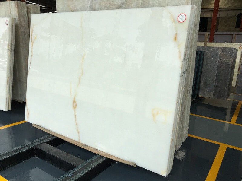 Snow White Onyx Slabs
