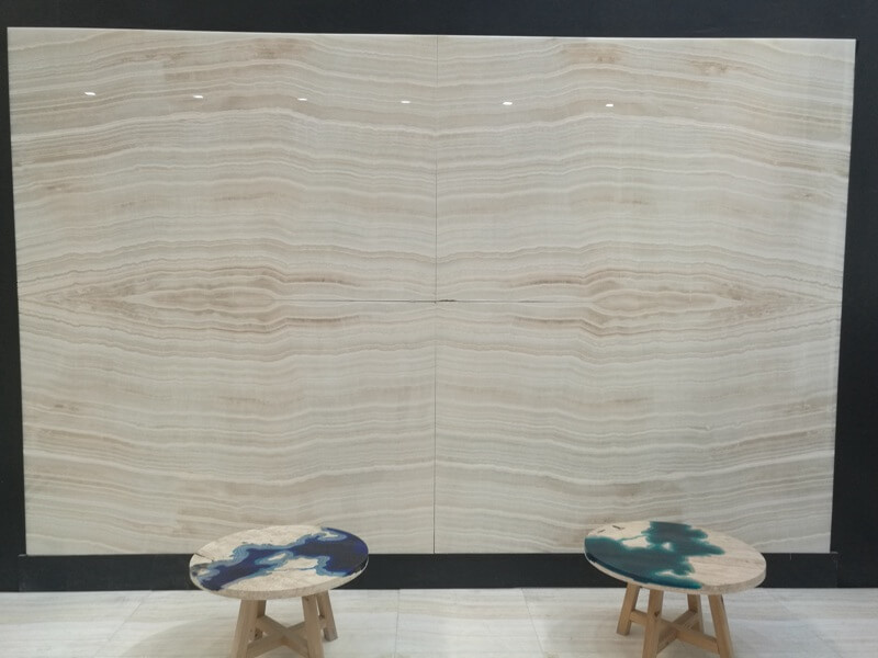 Vanilla White Wooden Onyx Slabs