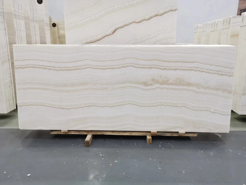 Vanilla White Wooden Onyx Table Tops