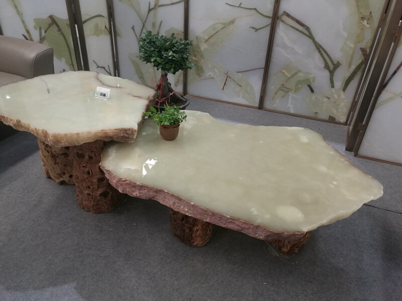 Light Green Onyx Countertops