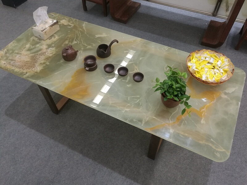 Onyx Marble Tea Tables Tops For Sale