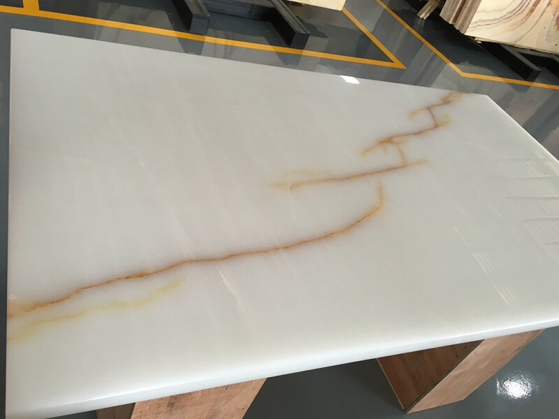 White Onyx Kitchen Countertops
