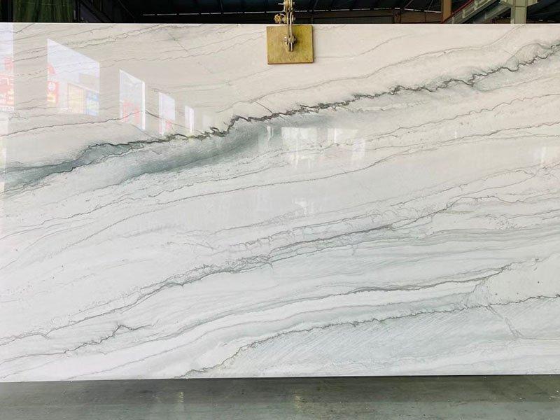 White Pearl Quartzite Countertops Slabs Tiles