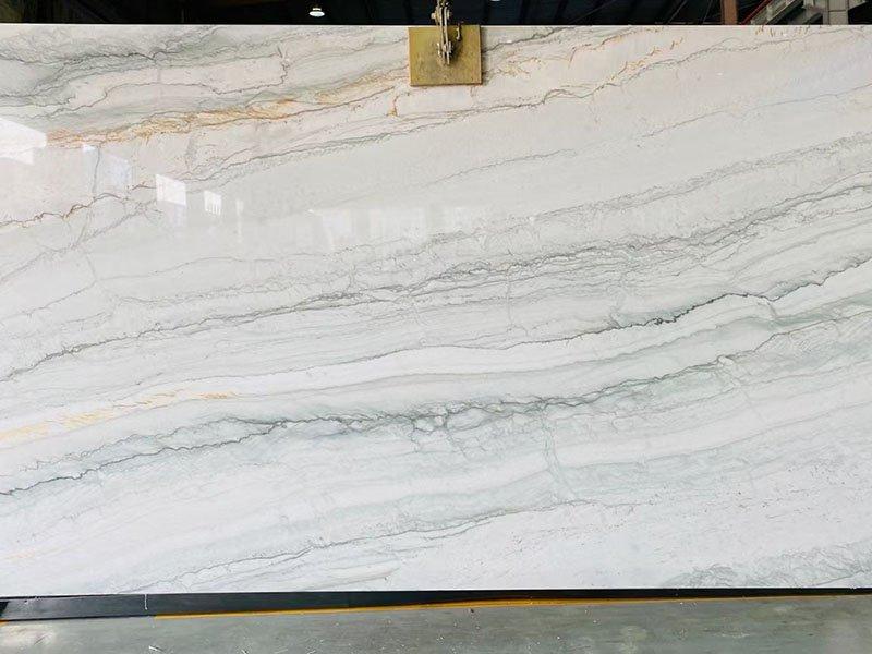 white pearl quartzite kitchen slabs price