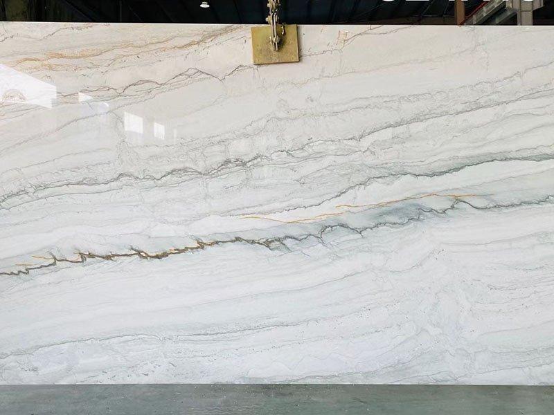 white pearl quartzite slabs